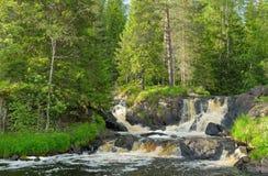 Waterfalls on the Tohmajoki River. Karilia Stock Photo