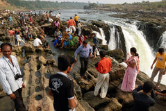 Waterfalls & the tourists Stock Photo