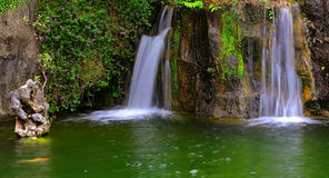 Waterfalls in tropical garden Royalty Free Stock Image