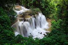 Waterfalls in tropical rain forest Stock Images