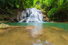 Waterfalls in the tropical rain forest  in Thailand Stock Photo