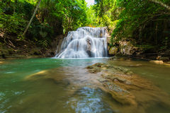 Waterfalls in the tropical rain forest  in Thailand Stock Images