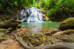Waterfalls in the tropical rain forest  in Thailand Royalty Free Stock Image