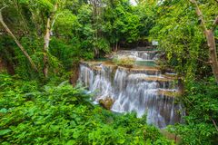 Waterfalls in the tropical rain forest  in Thailand Royalty Free Stock Photos
