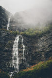 Waterfalls Under Cloudy Skies during Daytime Stock Photos