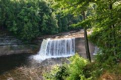 Waterfalls in Upper Peninsula. Of Michigan near sunset Stock Photos