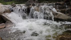 Waterfalls in the valley. Are turbulent and clear. Very beautiful scenery stock footage