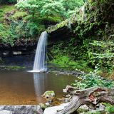 Waterfalls in Wales UK royalty free stock photos