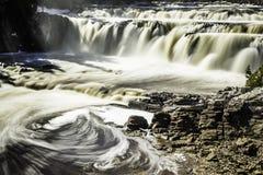 Waterfalls. Water falls in Lepreau New Brunswick Royalty Free Stock Image