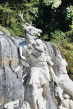 Waterfalls water gardens of the Royal Palace Royalty Free Stock Image