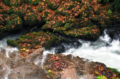 Waterfalls. Waterfall at Turkey Royalty Free Stock Photography