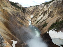 Waterfalls at Yellowstone National Park Royalty Free Stock Photography