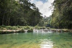Waterfals de Semuc Champey, Guatemala Fotos de archivo