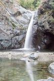 Waterfasll de Goja del Pis, Almese, perto de Turin Itália Fotografia de Stock