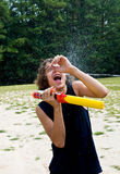 Waterfight! Stock Image