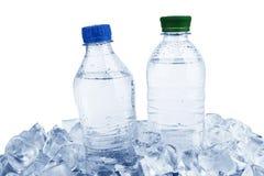Waterflessen stock foto's