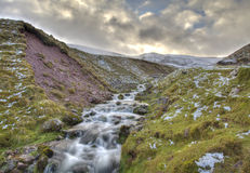 Waterflow. Ing down valley in South Wales Royalty Free Stock Photos