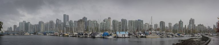 Waterfont panorama Vancouver, BC, Kanada obraz stock