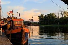 Waterford, NY, EUA - em setembro de 2016 Festival do rebocador do vintage em imagens de stock royalty free