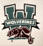 Waterford High School Wolverines Mascot stock photography
