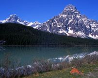 Waterfowl lake, Alberta, Canada. Royalty Free Stock Image