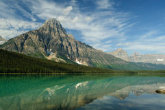 Waterfowl Lake, Jasper Stock Photo