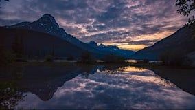 Waterfowl Lakes sunset, Alberta, Canada