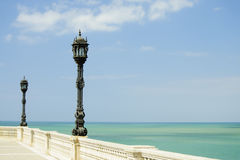 Waterfron walkway of Cadiz, Spain Royalty Free Stock Images