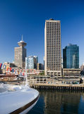 Waterfront. Vancouver skyline and Harbour Centre stock images