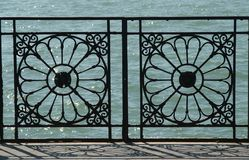 Waterfront. Antique fence in Venice, europe Royalty Free Stock Image