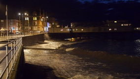 Waterfront of Aberystwyth on the west coast Wales stock video