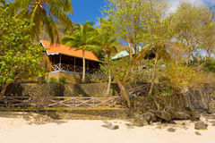 Waterfront accomodations in the grenadines Royalty Free Stock Photos
