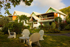 Waterfront accomodations in the grenadines Stock Image