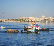 Waterfront at Alexandria, Egypt Stock Photo