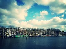 Waterfront in Amsterdam, Holland Stock Photography