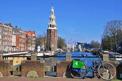 Waterfront in Amsterdam Royalty Free Stock Images