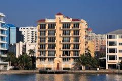Waterfront Apartment Building stock photos