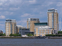 Waterfront apartment building Royalty Free Stock Images