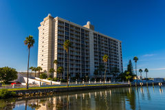 Waterfront apartment building in Clearwater, Florida. Royalty Free Stock Photography