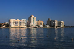 Waterfront Apartment Buildings Royalty Free Stock Photography