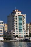 Waterfront Apartment Buildings stock image