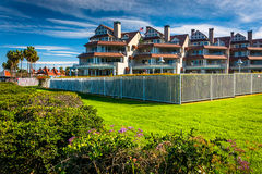 Waterfront apartment buildings in Coronado, California. Royalty Free Stock Image