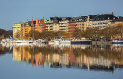 Waterfront apartment buildings. Stock Photography