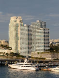 Waterfront apartments in Miami Royalty Free Stock Photography