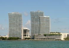 Waterfront apartments in Miami Royalty Free Stock Image