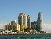 Waterfront apartments in Miami Royalty Free Stock Photo