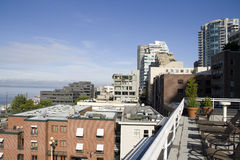 Waterfront apartments seattle stock image