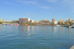 Waterfront Apartments - Overlooking Mediterranean Waterside Harbour Property       Royalty Free Stock Images
