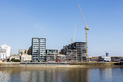 Waterfront Apartments Under Construction Stock Photo