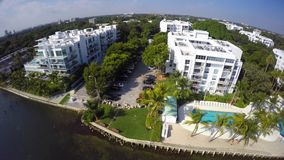 Waterfront architecture Miami stock video footage